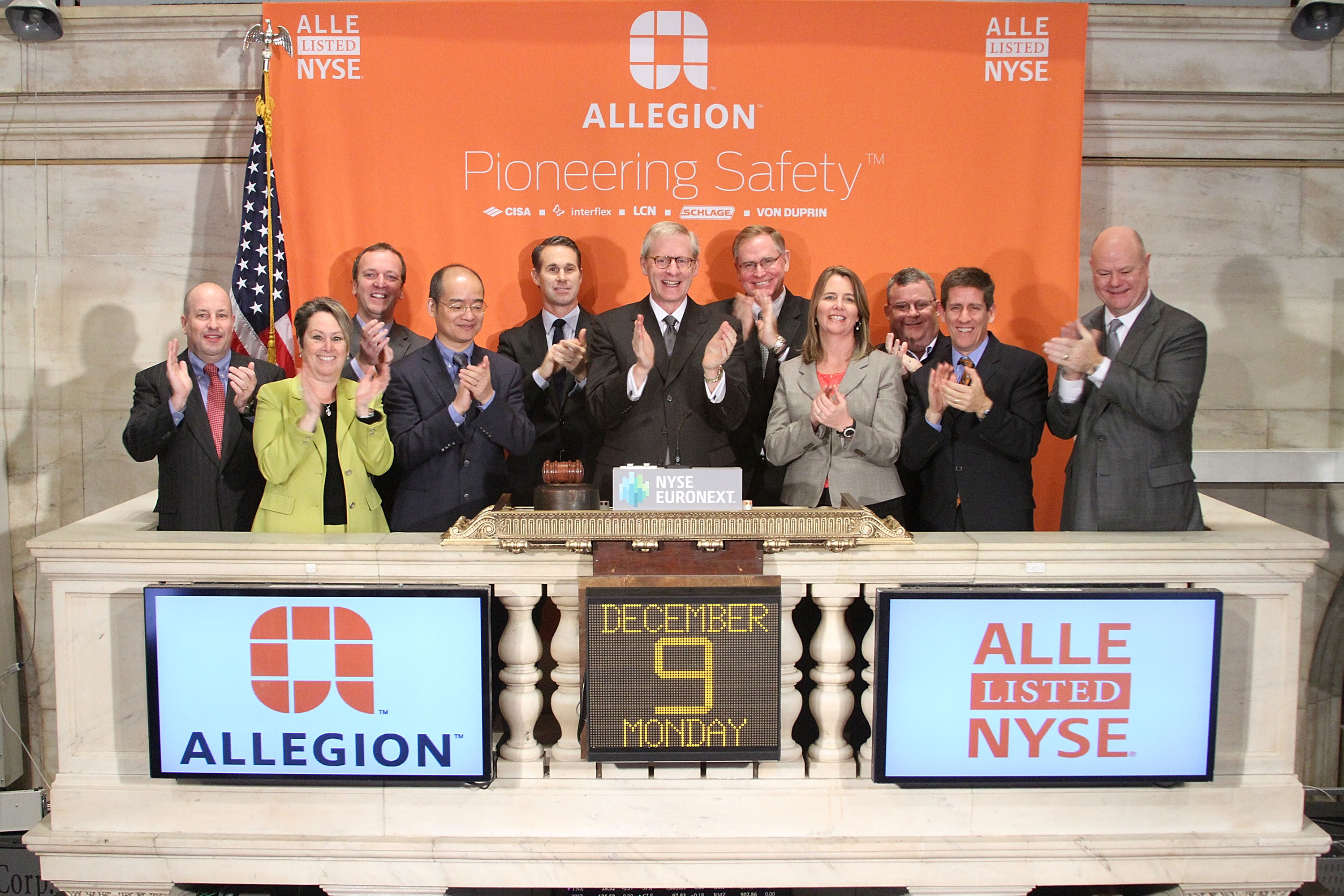 Allegion Debuts as Public Company Following Spinoff from Ingersoll Rand
