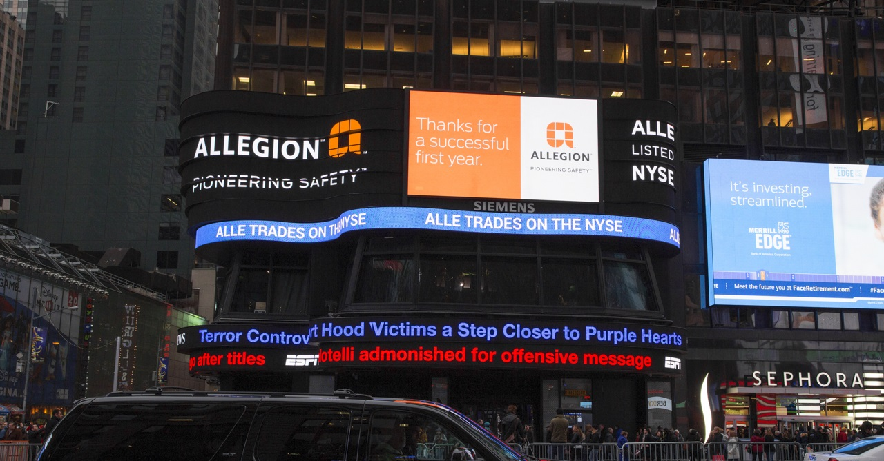 Allegion Highlights Successes, New Products Launched Since Becoming Standalone Company