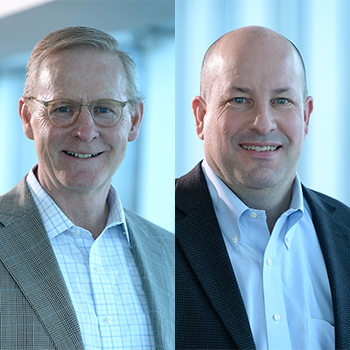 Left: Dave Petratis, CEO. Right: Patrick Shannon, CFO.