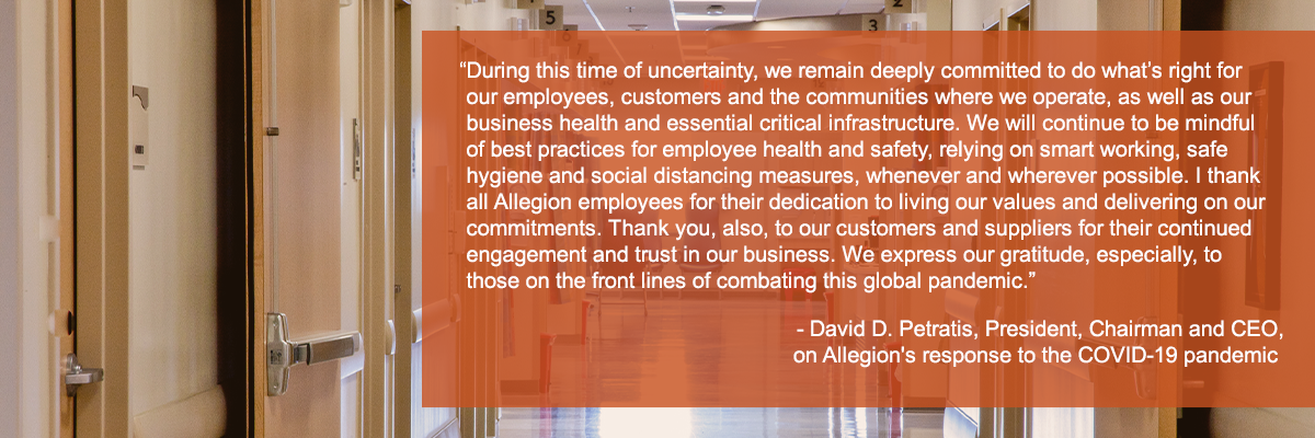Allegion Covid Statement